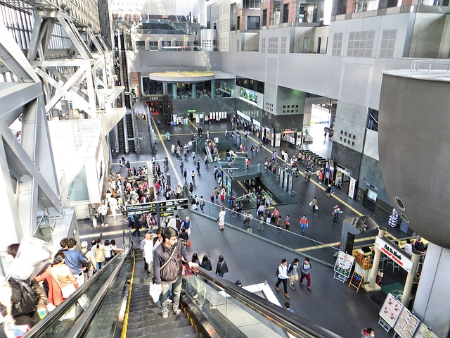 Free department store shopping centre escalator thread
