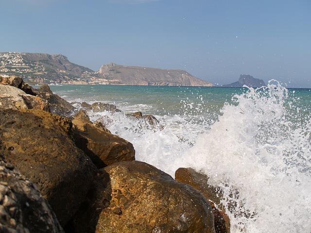 Free waves breakwater sea altea nature costa alicante