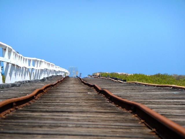 Free rail railway railroad train tracks transportation