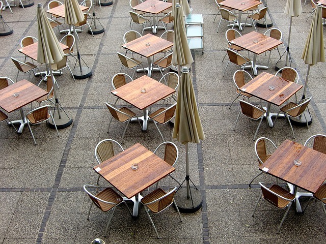 Free beer garden gastronomy dining tables seat