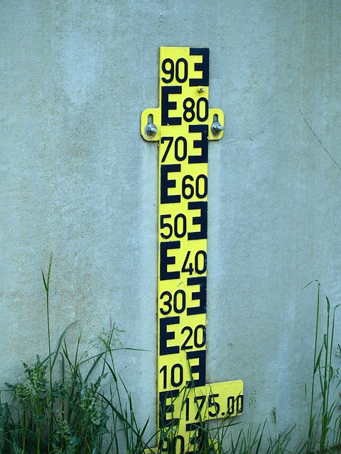 Free water gauge measure water height pay scale