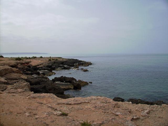 Free mallorca sea beach rock landscape island nature