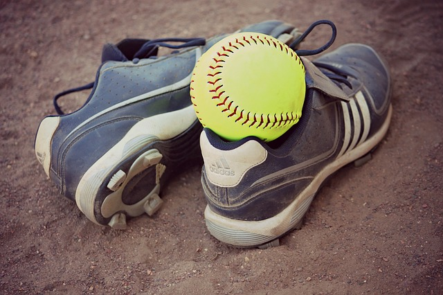Free softball cleats sports seam recreation field