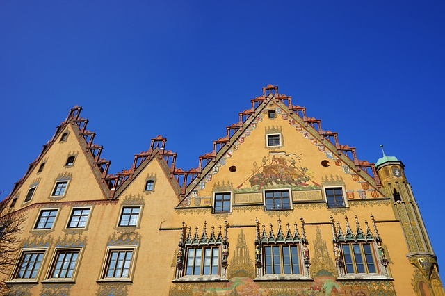Free town hall ulm home building facade yellow