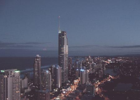 Big city lights by night