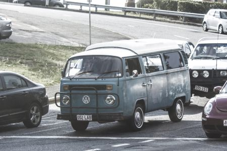 Free Vintage Volkswagen van on road