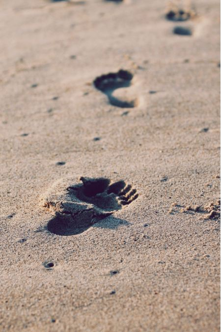 Free Footprints in the sand