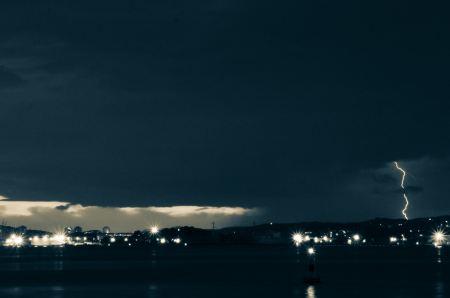 Free Lightning storm by night