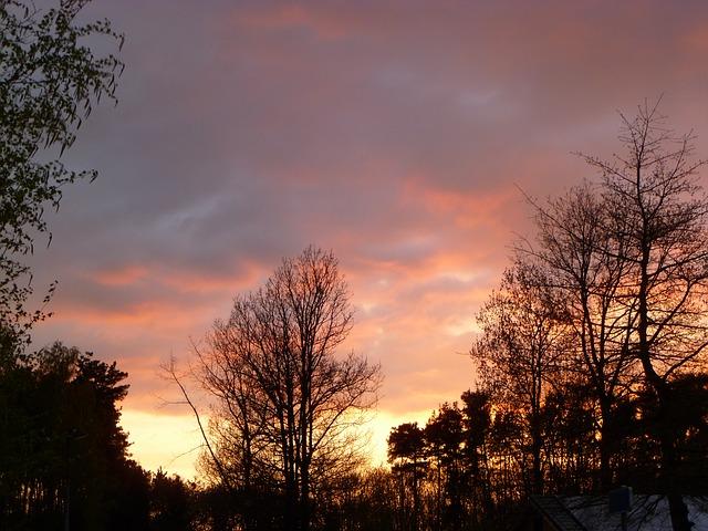 Free colorful sunset sun sunset yellow orange blue