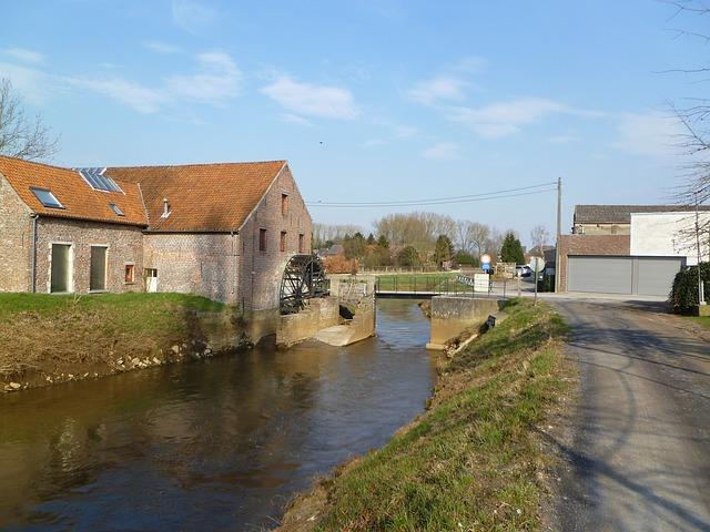 Free demer river spring zichem belgium
