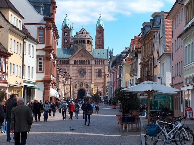 Free speyer germany city buildings avenue walkway