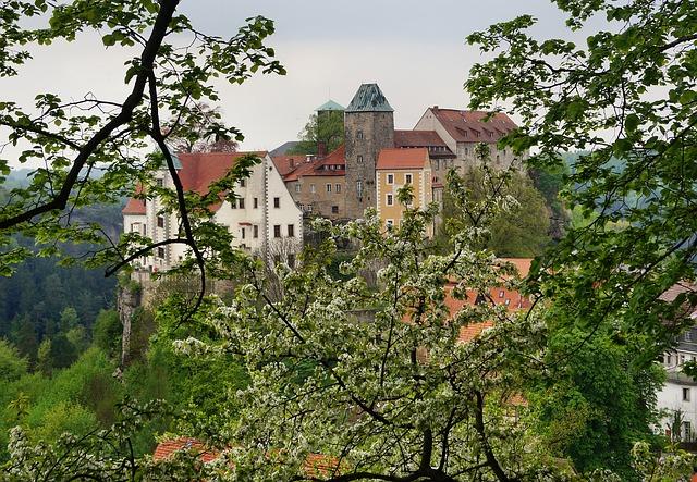 Free castle hohnstein height burg rock castle around 1200