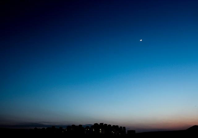 Free sunset landscape moon stars silhouette