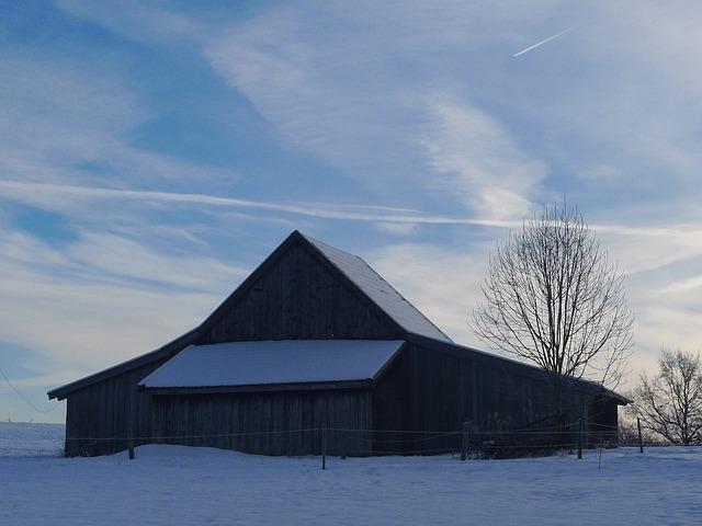 Free hut barn winter