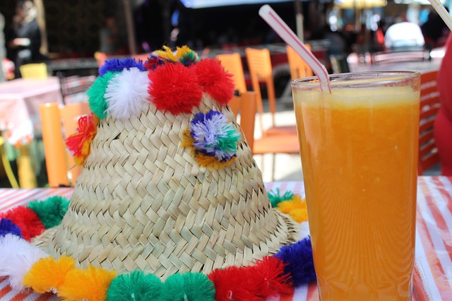 Free hat juice orange morocco street