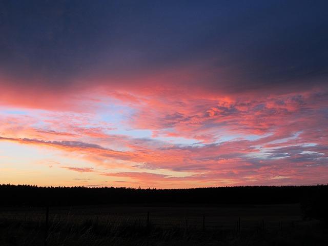 Free Photos: Evening sky clouds afterglow sky red horizon | christianhofmann63