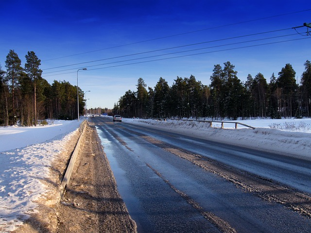 Free finland road landscape scenic winter snow ice