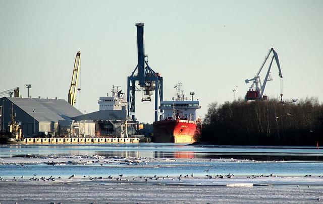 Free finland harbor ship sky clouds buildings cranes