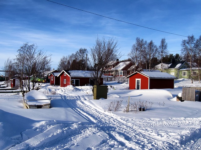 Free kello finland fishing village houses boats sky