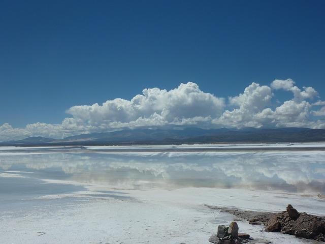 Free argentina salt flats clouds nature mirroring sky