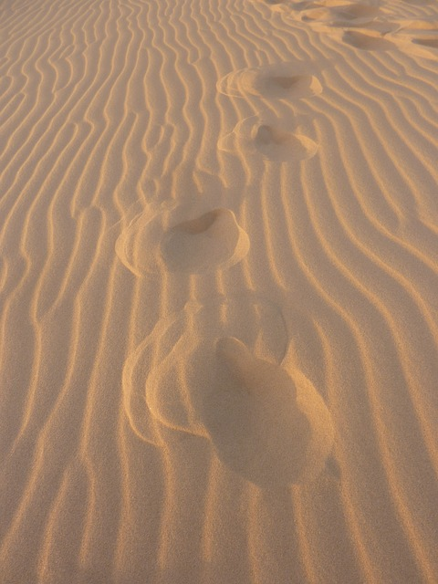 Free sand uruguay footprints in the sand feet traces