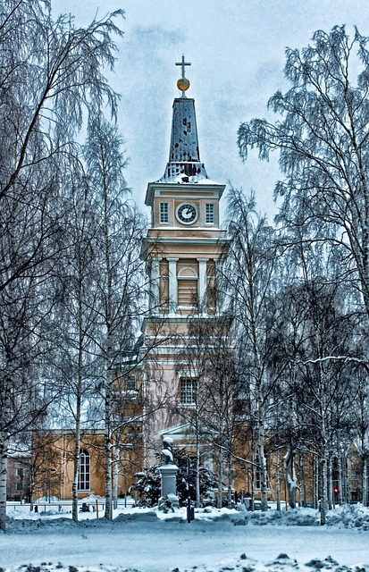 Free oulu finland cathedral church building