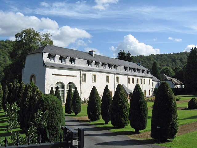 Free belgium landscape scenic hotel building