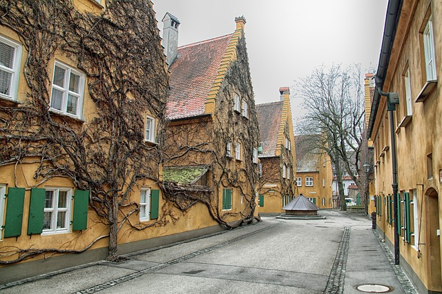 Free augsburg germany street houses buildings