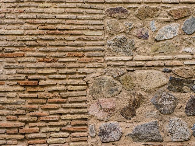 Free wall stone brick temple old stone wall
