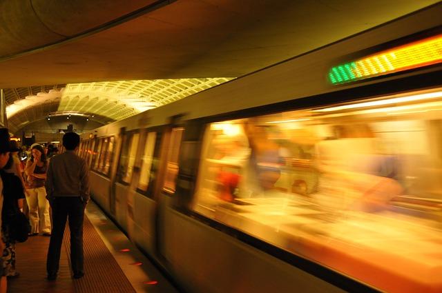Free subway movement traffic underground washington dc
