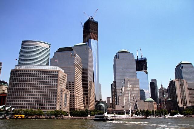 Free new york city skyline cities urban river water