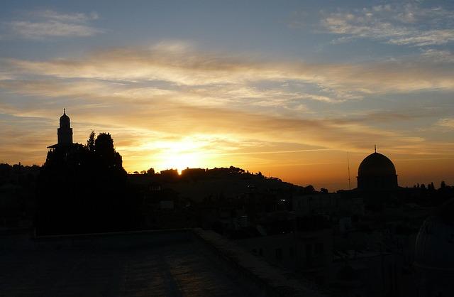 Free jerusalem israel city temple mountain sunset