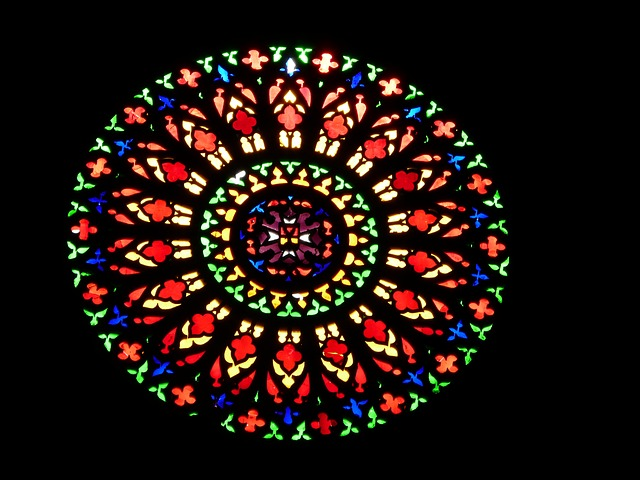 Free church window about colorful