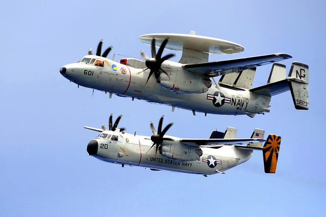 Free planes military navy sky clouds c-2c hawkeye