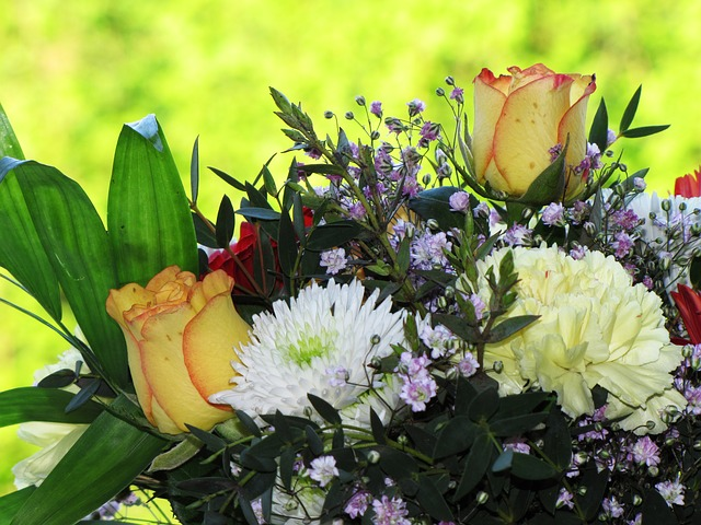 Free mother's day bouquet flowers luck gift