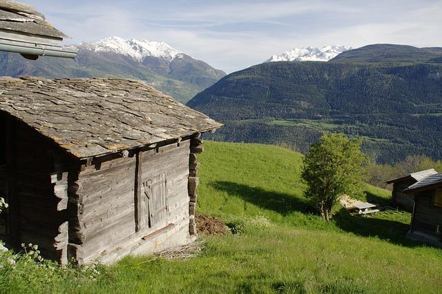 Free switzerland valais ausserberg mountains