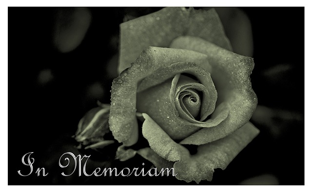 Free mourning death die trauerkarte memory rose saying