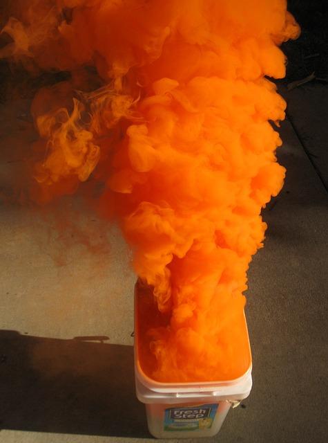Free orange smoke distress signal military ocean sea