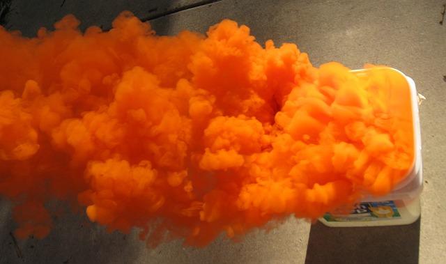 Free smoke orange distress beacon ocean sea military