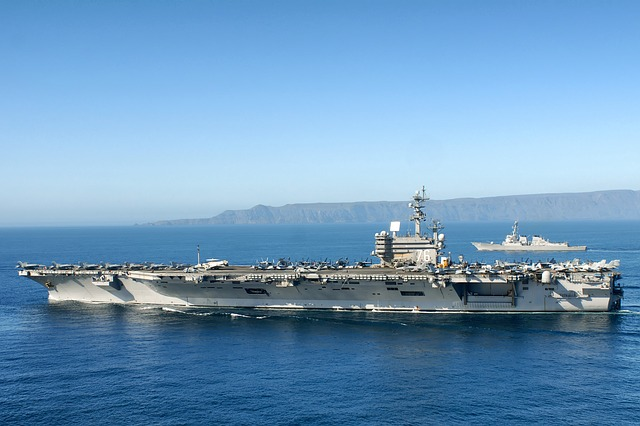 Free uss ronald reagan aircraft carrier sky clouds