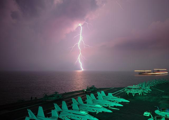Free strait of malacca sky clouds lightning storm