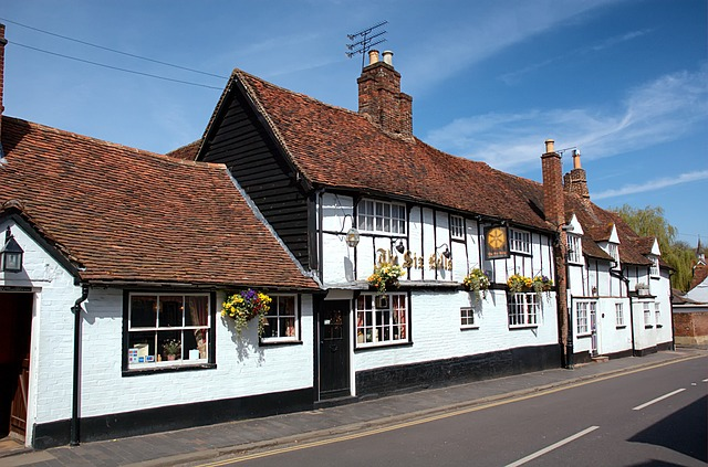 Free st albans england great britain sky clouds shops