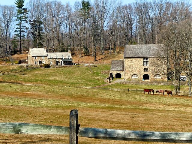Free pennsylvania farm rural trees horse fence
