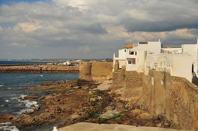 Free morocco asilah wall ramparts