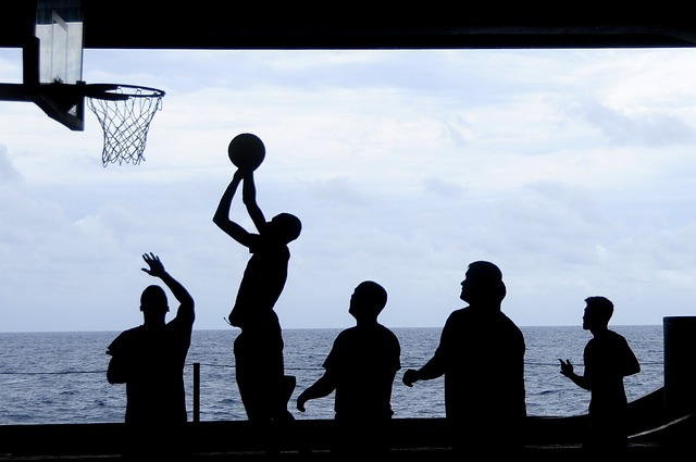 Free               uss nimitz basketball silhouettes sea ocean water