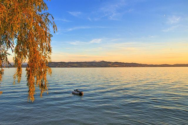 Free lake constance wasserburg see sunrise autumn