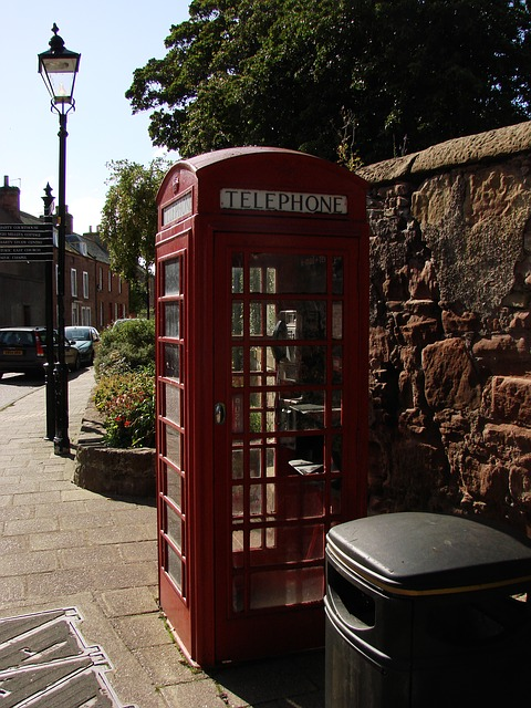 Free phone booth london england red telephone box