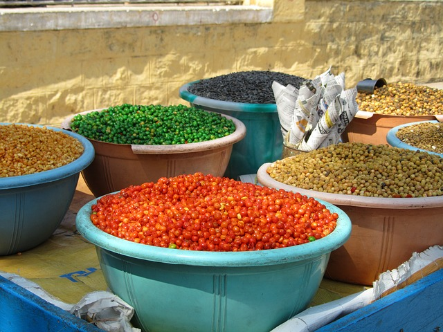 Free colorful beans market