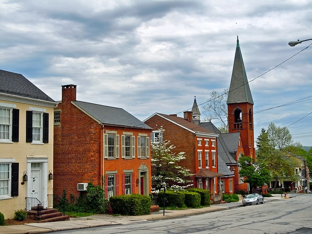 Free wrightsville pennsylvania town church buildings