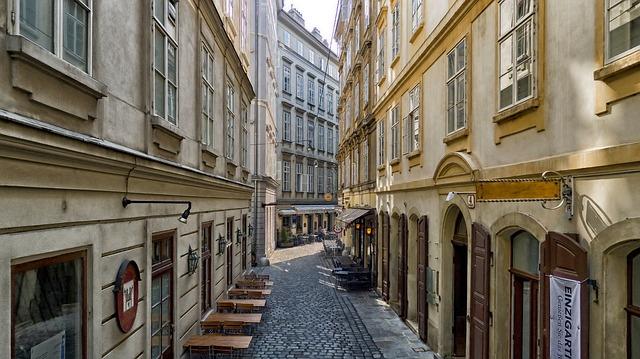 Free vienna austria buildings café shops stores